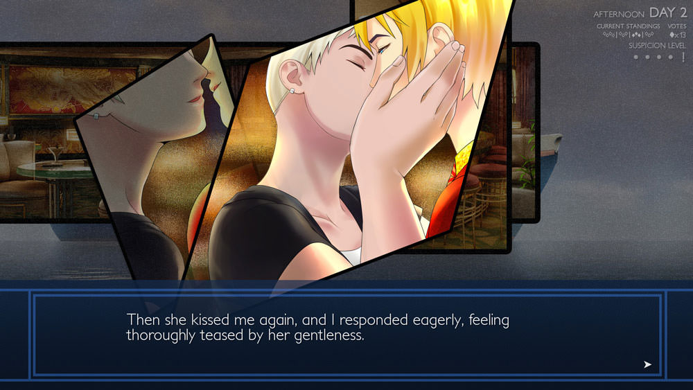 Ladykiller in a Bind: kiss